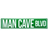 Man Cave Boulevard Metal Sign